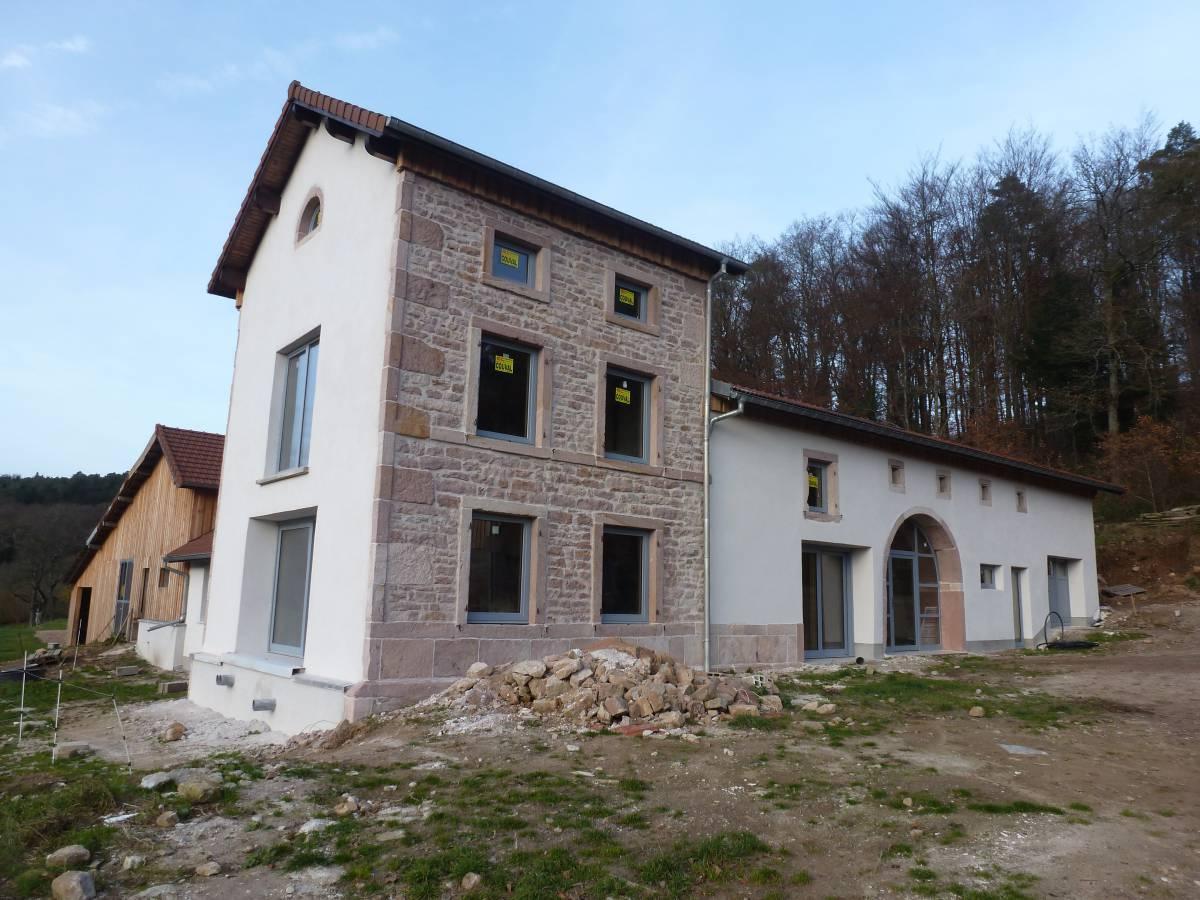 Rénovation de maison dans les Vosges